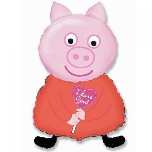 фольгированный шар свинка пеппа купить